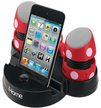 jcpenney.com | Kiddesigns EK-DM-M79 Minnie Mouse Rechargeable Mini Stereo Speakers with Base for iPods, Laptops and iPhones