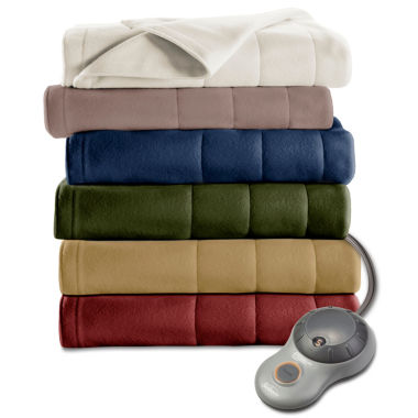 jcpenney.com | Sunbeam Heated Quilted Fleece Electric Blanket