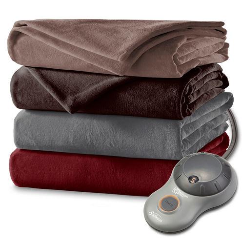 Sunbeam® Slumberrest® Heated Velvet Plush Blanket
