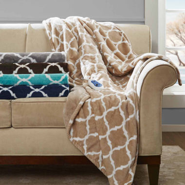 jcpenney.com | Beautyrest Oversized Ogee Heated Throw