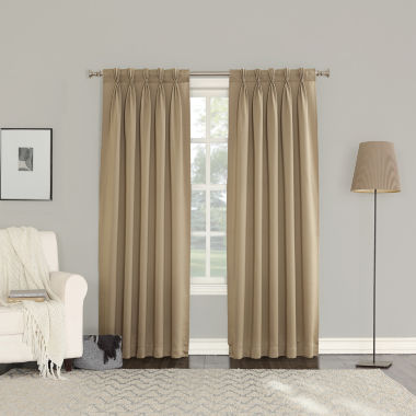 jcpenney.com | Sun Zero Emory 2-Pack Room Darkening Pinch-Pleat Curtain Panels