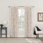 Sun Zero Rona Rod-Pocket/Back-Tab Curtain Panel Blackout Back-Tab Curtain Panel