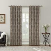 Sun Zero Sagan Yarn Dyed Woven Back-Tab Curtain Panel