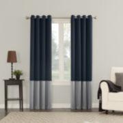 Sun Zero Plymouth Woven Grommet-Top Curtain Panel