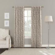 Sun Zero Kamila Rod-Pocket/Back-Tab Curtain Panel Blackout Back-Tab Curtain Panel