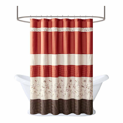 Madison Park Mandara Embroidered Shower Curtain