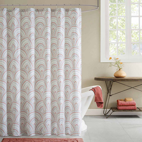 INK+IVY Muriel Cotton Shower Curtain