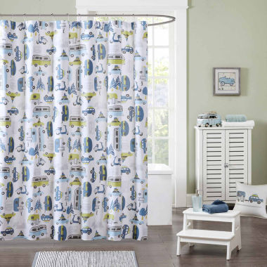 jcpenney.com | INK+IVY Road Trip Cotton Shower Curtain