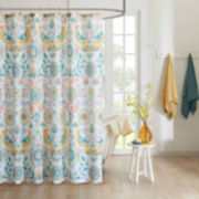 Intelligent Design Mona Microfiber Shower Curtain