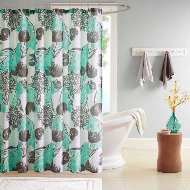 jcpenney.com | Intelligent Design Lily Microfiber Shower Curtain