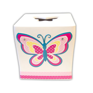 jcpenney.com | Butterfly Dots Tissue Box Cover