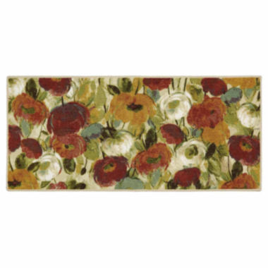 "jcpenney.com | JCPenney Home™ Bright Fresh Floral Rug - 20""x45"""
