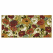 "JCPenney Home™ Bright Fresh Floral 20""x45"" Rectangular Rug"