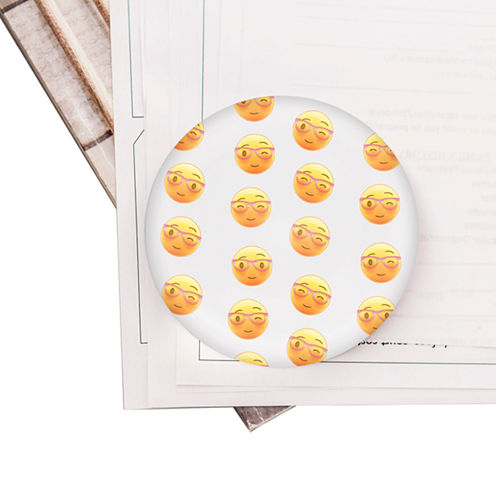 Cathy's Concepts Emoji Domed Glass Paperweight