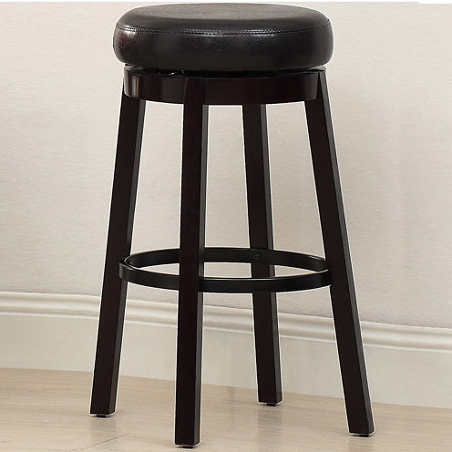 Menterely Leatherette Bar Stool