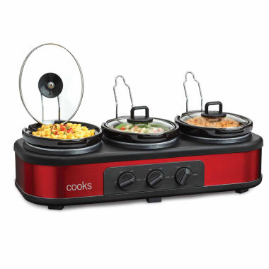 jcpenney.com | Cooks 3x1.5-qt. Triple Slow Cooker with Lid Rests