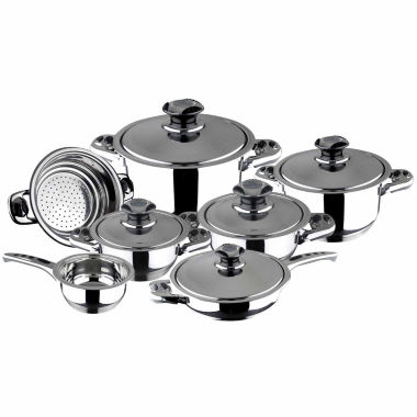 jcpenney.com | 12-pc. Stainless Steel Dishwasher Safe Cookware Set