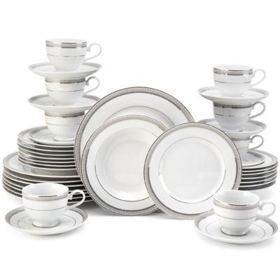 Mikasa Platinum Crown 40-pc. Dinnerware Set  sc 1 st  JCPenney & Mikasa Platinum Crown 40 pc Dinnerware Set JCPenney