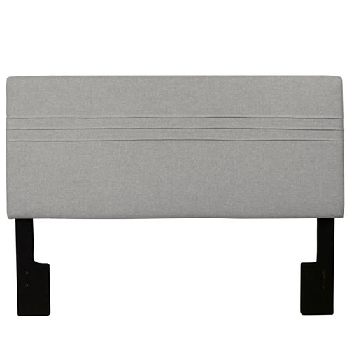 Home Meridian Upholstered Silver Headboard
