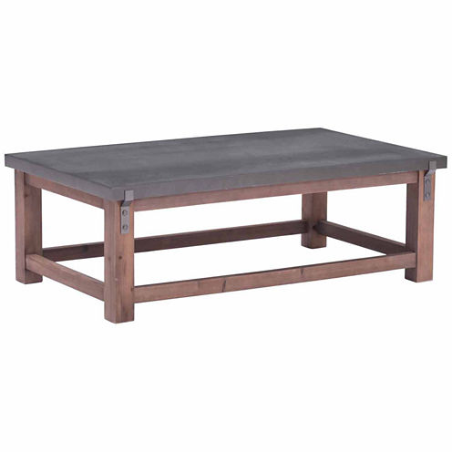 Zuo Modern Greenpoint Gray & Distressed Fir Coffee Table