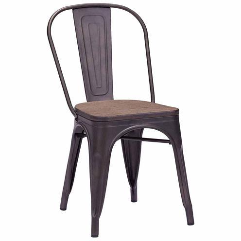Zuo Modern Elio Elm Wood 2-pc. Side Chair