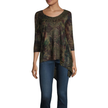 jcpenney.com | One World Apparel 3/4 Sleeve V Neck T-Shirt