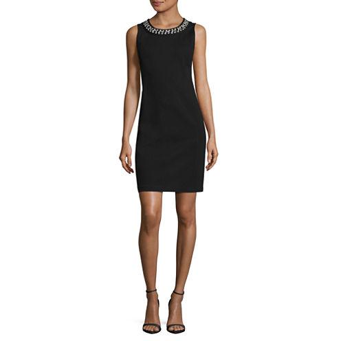 Liz Claiborne Sleeveless Embellished Sheath Dress