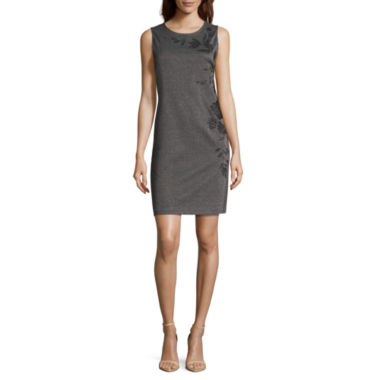 jcpenney.com | Liz Claiborne Sleeveless Embroidered Sheath Dress