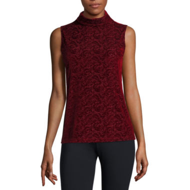 jcpenney.com | Liz Claiborne Sleeveless Turtleneck T-Shirt