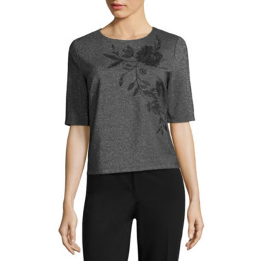 jcpenney.com | Liz Claiborne Embroided Shine Top