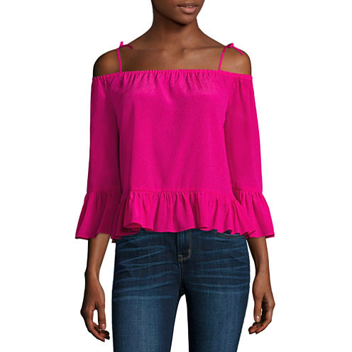 a.n.a Cold Shoulder Peplum Blouse