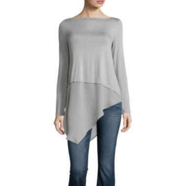 jcpenney.com | a.n.a Long Sleeve Boat Neck T-Shirt