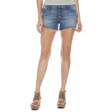 jcpenney.com | a.n.a. Button Front Denim Shorts
