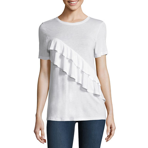 Stylus Short Sleeve Crew Neck T-Shirt-Womens