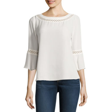 jcpenney.com | Stylus 3/4 Sleeve Crew Neck Blouse