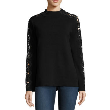 jcpenney.com | Stylus Long Sleeve Mock Neck Pullover Sweater-Talls