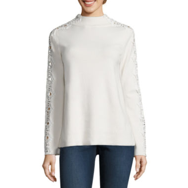 jcpenney.com | Stylus Long Sleeve Mock Neck Pullover Sweater