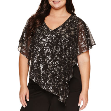 jcpenney.com | Alyx Short Sleeve Scoop Neck Woven Blouse-Plus