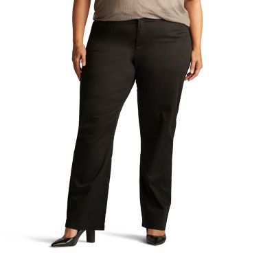 jcpenney.com | Lee® Freedom Straight-Leg Twill Pants - Plus