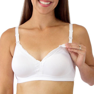 88b8f77d0b Leading Lady® Lace-Trim Wireless Nursing Bra