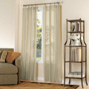 London Stripe Rod-Pocket Sheer Panel