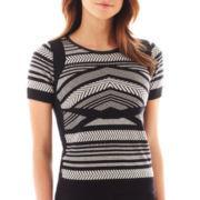 Worthington® Short-Sleeve Sweater Shell - Tall