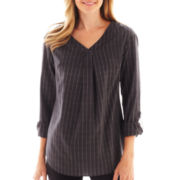 Worthington® Roll-Tab Tunic Blouse