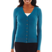 Worthington® Long-Sleeve V-Neck Cardigan Sweater
