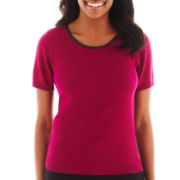 Worthington® Short-Sleeve Sweater Shell