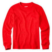 Arizona Long-Sleeve Solid Thermal Tee - Boys 6-18 and 8-20 Husky