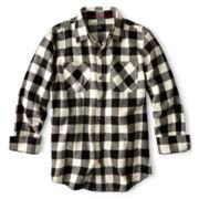 Arizona Button-Front Flannel Shirt – Boys 8-20 Husky