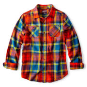Arizona Button-Front Flannel Shirt - Boys 8-20 Husky