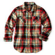 Arizona Button-Front Flannel Shirt – Boys 8-20 Husky