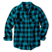 Arizona Button-Front Flannel Shirt – Boys 6-18 and 8-20 Husky